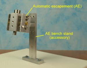 Automatic escapement stand